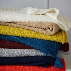 Cozy Boucle Wool Throw