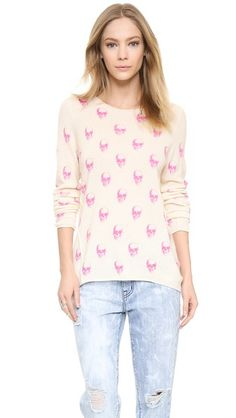 Making skulls pink certainly ups the femininity factor. 360 SWEATER Jack Cashmere Sweater   Young and Hungry
