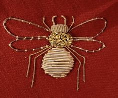 Bee Embroidery, Spider, Insects, Spiders