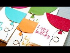 Quick Birthday Balloon Cards