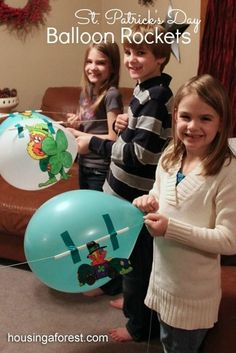 Balloon Rockets ~ Racing Leprechauns is a fun St. Patricks Day Activity