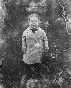 Portrait photo of young Tom Thumb from a daguerreotype. Considerable restoration was performed to this image, though the limits are obvious with these old daguerreotype images. Antique Photos, Vintage Photographs, Vintage Photos, Old Pictures, Old Photos, General Tom Thumb, Today In History, Portrait Photo, Custom Art
