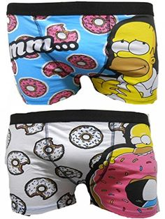 The Simpsons Homer Men's Boxer Trunks Two Pack - XL