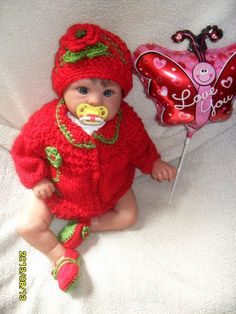 Beautiful Hand Knit set for baby girls Sweater by MadebyMily, $30.00