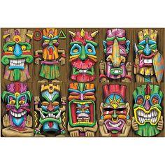 Tiki Mask Cutouts