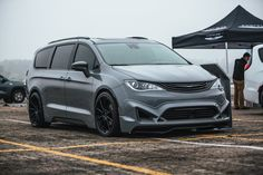 """""""We're at Springfest showing off VANkulture's modded-out spin on the Pacifica. It's time to believe the hype. Chrysler Minivan, Pacifica Minivan, Sleeper Van, Vanz, Chrysler Pacifica, Grand Caravan, American Motors, Custom Vans"""