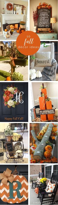 10 Fall Decor Ideas - Simply ClarkeDo you need inspiration for autumn decor ideas for your home? Get some ideas and decorating tips here!Fall Home Decor, Fall Decor, Fall Table Decor, Fall Decor, Rustic Home Fall Home Decor, Autumn Home, Fall Decor For Mantel, Fall Mailbox Decor, Seasonal Decor, Fall Fireplace Decor, Rustic Fall Decor, Autumn Fall, Decor Crafts