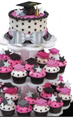 polka dot graduation cakes | Graduation cookie favors with your picture.$5.99 each. Minimum order ...