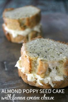 Almond Poppy Seed Cake with Lemon Cream Cheese | Bread Booze Bacon