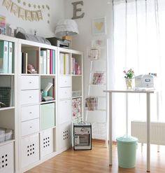 Use ikea furniture! Craft Room Storage, Room Organization, Craft Rooms, Closet Organisation, Paper Storage, Space Crafts, Home Crafts, Craft Space, Kids Crafts