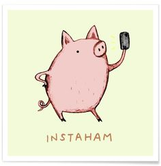Sophie Corrigan adds clever wordplay to adorable animal illustrations. The UK-based freelance illustrator has released a series of drawings, some of which have already been made into greeting-cards, of cute animals and punny phrases. Punny Puns, Cute Puns, Puns Jokes, Funny Cute, Funny Memes, Hilarious, Jokes Kids, Food Puns, Pigs