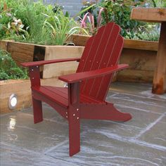 Yarmouth Adirondack Red, $315, now featured on Fab.