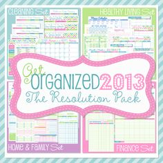 Get Organized in 2013 : The Resolution Pack