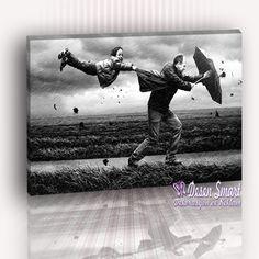 Rüzgar ve baba oğul - Kanvas TABLO
