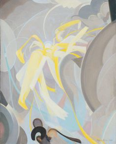 Agnes Pelton (American, 1881-1961), Ecstasy, 1928. Oil on canvas, 24 × 19 in. Des Moines Art Center, Des Moines, Iowa