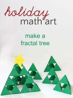 How to make a fractal Christmas tree. Fun holiday math and art project for kids!