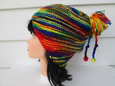 Ready to ship Very unique Slouch beanie Great accessory for any time of the year, Warm and elegant Fits a full size adult head. Knit hat Has enough