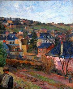 """ Paul Gauguin - Blue Roofs of Rouen, 1884 """