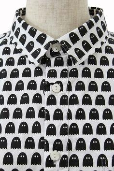 I am I 13,440 キャンブリック オバケプリントシャツ