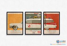 Ghostbusters Movie Poster/Print  Ecto 1 Car Mondo Style