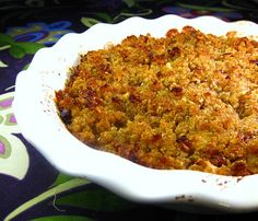 Apple Quinoa Cobbler Good recipe for topping Sugar Free Sweets, Gluten Free Sweets, Side Recipes, Healthy Recipes, Clean Recipes, Healthy Meals, Clean Eating, Healthy Eating, Apple Cobbler