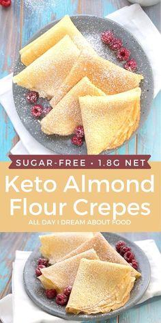 Low Carb Desserts, Low Carb Recipes, Comida Keto, Low Carb Breakfast, Breakfast Recipes, Ketogenic Diet Breakfast, Breakfast Ideas, Keto Bread, Ketogenic Recipes