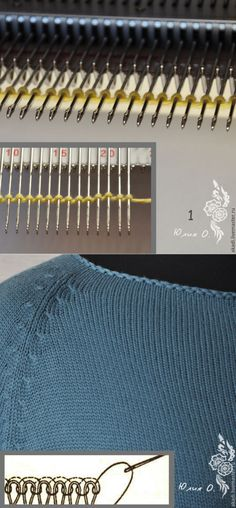Крестообразный набор петель двойной нитью на вязальной машине и закрытие петель иглой для получения идентичного края - Ярмарка Мастеров - ручная работа, handmade