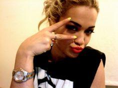 Rita Ora #nails #manicure #yellow
