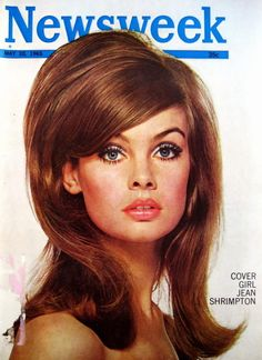 The inspiration: Jean Shrimpton's sleek but substantial style on a 1965 Newsweek cover. | 7 Hairstyles Of The '60s You'd Totally Wear Today