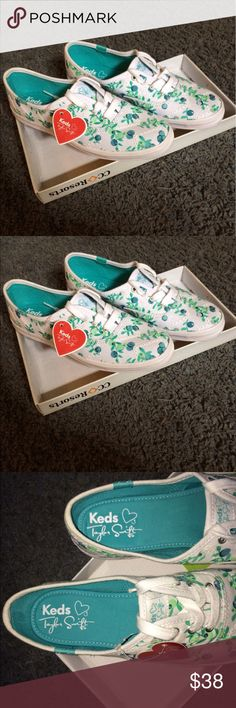 Taylor swift keds Taylor Swift keds - brand new - come w/ extra pair of blue shoe laces - size 5.5 -open to all reasonable offers!  Keds Shoes Sneakers