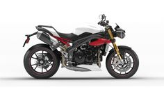 2016 Speed Triple R in Crystal White | Triumph Motorcycles