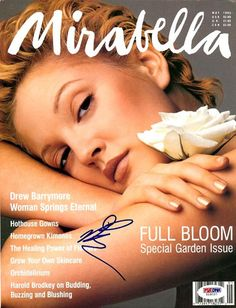 This is a magazine that has been hand signed by Drew Barrymore. It has been authenticated by PSA/DNA and comes with their sticker and matching certificate of authenticity.