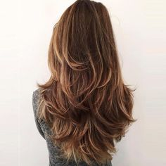 Hairstyles For Layered Hair, Haircuts For Long Hair With Layers, Haircut For Thick Hair, Long Hair Cuts, Straight Hairstyles, Long Layered Haircuts Straight, Straight Hair With Layers, Long Layered Hair Wavy, Layered Haircuts For Long Hair