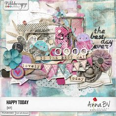 Happy Today Kit by AnnaBV Designs. You will love Anna's artsy, slightly grungy style. Her designs are perfect for both traditional or art journaling style projects. Get creative & Enjoy! Happy Today, Fashion Project, Art Journaling, Good Day, Digital Scrapbooking, Artsy, Collections, Kit, Traditional