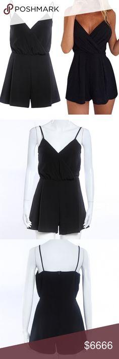 Black jumpsuit romper Polyester blend Pants Jumpsuits & Rompers