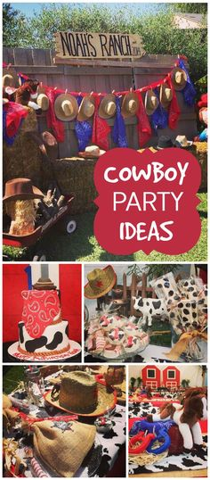 What a fun cowboy themed first birthday party! See more party ideas at http://CatchMyParty.com!