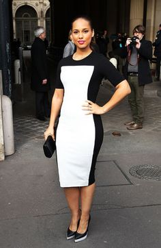 Alicia Keys -- black and white