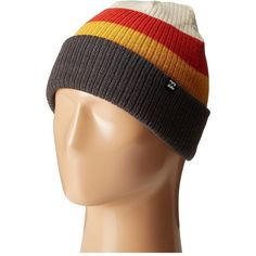 9d793634ee1 Billabong Tribong Reversible Beanie (Red Orange) Beanies ( 20) ❤ liked on Polyvore  featuring accessories