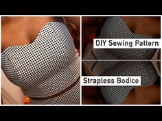 How to Draft a Strapless Bodice Pattern • Elewa Blog