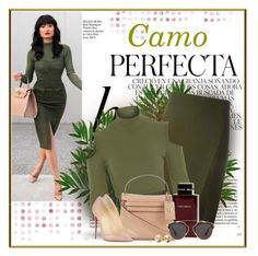 """Camo Perfecta"" by debpat on Polyvore featuring Whiteley, Versace, Dolce & Gabbana Fragrance, Valentino, Christian Louboutin, Christian Dior and Eddie Borgo"
