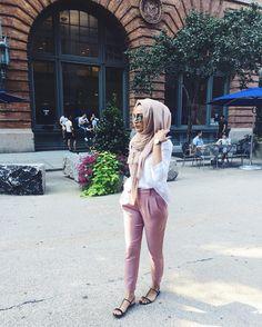 Loving this look. Hijab Casual, Hijab Style, Hijab Chic, Hijab Outfit, Islamic Fashion, Muslim Fashion, Modest Fashion, Girl Fashion, Fashion Outfits