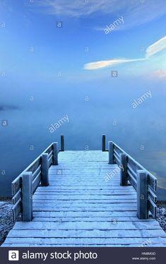 """Stock Photo - Small jetty at Brienz village, Brienz lake (""""Brienzersee""""), Bernese Oberland, Switzerland"""