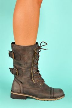 NYC Boots - Brown