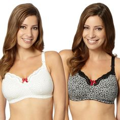 1c083aa4bbd Pack of two white lace C-H nursing bras http   picvpic.com