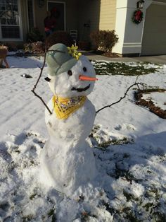 the snow lady i built with dad  ~ carolyn w. (december 2012)