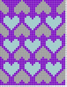 Heart Chart This site also lets you design your own knitting charts- Tricksy Knitter