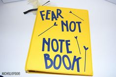 Anxiety Help Notebook. *great idea! could work with non-religious clients too... just find good quotes