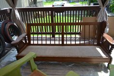 Before. Patio set Painted Furniture, Deck, Patio, Outdoor Decor, Projects, Home Decor, Log Projects, Homemade Home Decor, Yard