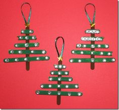 stick christmas ornaments