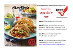It's #BeefFiesta time on Pinterest! #Win #contest #beef #recipes #mexicaninspired #CincoDeMayo http://www.ancw.org/contests.aspx